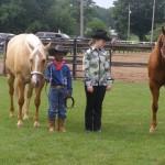 OFFKM junior wrangler at 4-H horse show